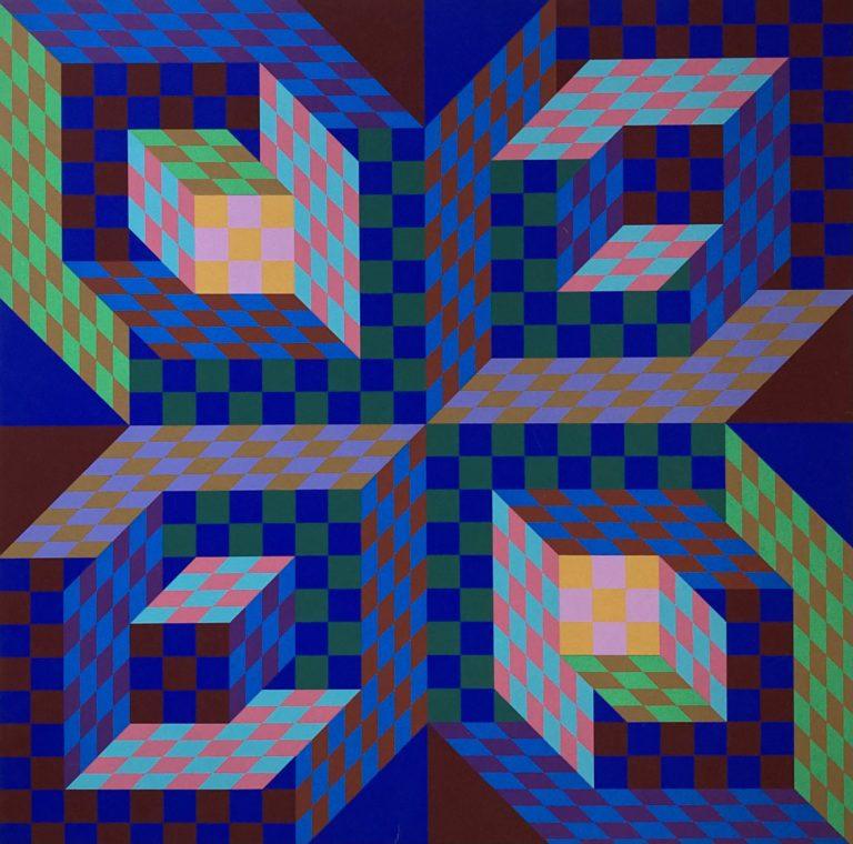 Vaserely, farve serigrafi