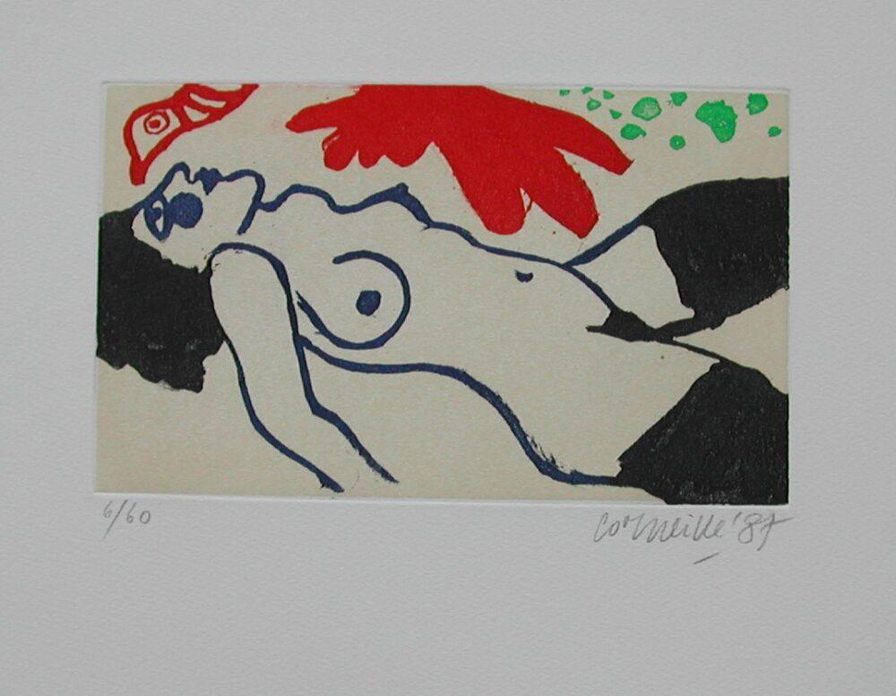 Corneille, radering 30x50cm